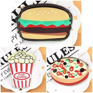 Handbags - 🍔🍿🍕All 3!! Hamburger Popcorn and Pizza Wallets